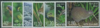 NZ SG2369-75 Threatened Birds set of 7